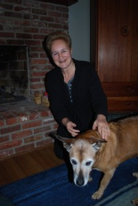 author annette oppenlander with her dog mocha