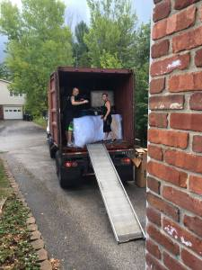 moving container with furniture