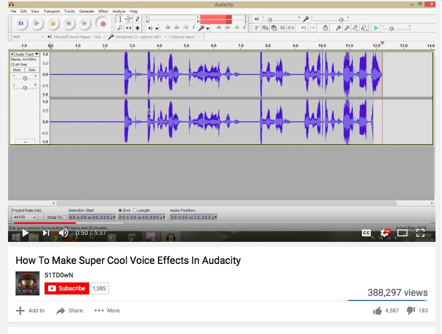 Voice Effects in Audacity