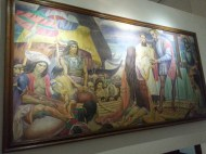 "An artwork seen in my elementary textbooks by Carlos ""Botong"" V. Francisco's First Mass in Limasawa"