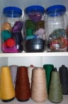 wool neatly arranged