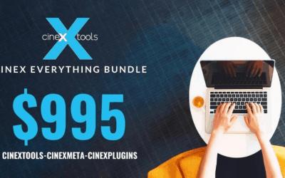 $995 CineX-Everything Bundle, Aug 15 – Oct 15