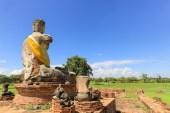 強い日差しの下、仏像が男性的に映える瞬間だ。