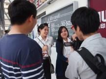日本の文化に興味を持つ学生