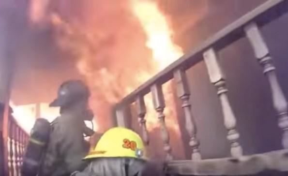二階から火柱