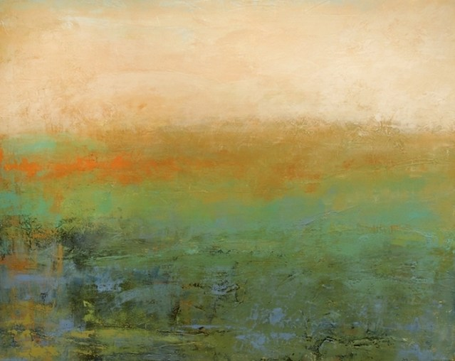 Abstract landscape paintings by Ann Hart Marquis