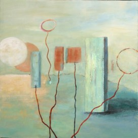 Untethered, acrylic on canvas, 24x24. ©2012, Ann Hart Marquis
