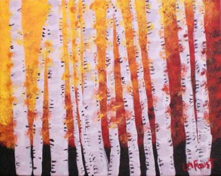 Autumn Birch Trees-Linda Faust