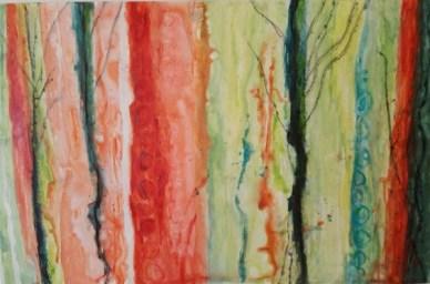 Acrylic on Yupo paper, 13 x 20 inches, Ann Hart Marquis-yupo