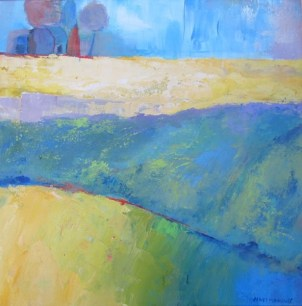 Ann hart Marquis-Waiting for Harvest-abstract landscape