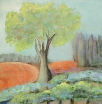 Ann Hart Marquis-Chalk Hill Oak-painting a river