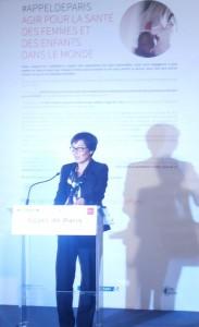 Mon discours pour l'Appel de Paris avec Melinda Gates, Anne Hidalgo, Geneviève Fioraso, Myriam El Khomri, Stépahnie Rivoal et Irina Bokova.