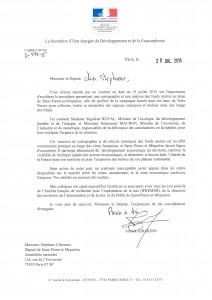 Lettre au député Stéphane CLAIREAUX