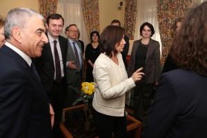 Avec des personnalités francophones du monde culturel arménien