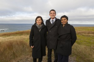 1er Ministre Manuel Valls, 15 octobre 2016, Miquelon, à sa droi