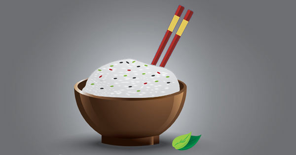 strange table manners, never stick chopsticks straight up in a bowl of rice