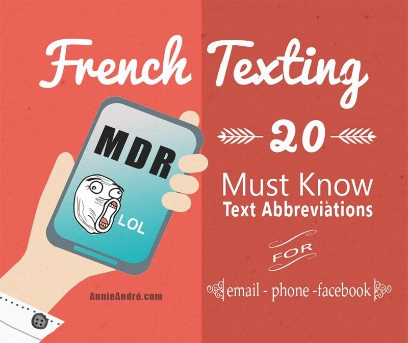 infographic French texting Abbreviations 20 must know and common internet and texting abbreviations for phone, Facebook and email