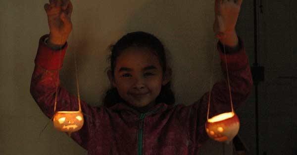 Our carved turnip jack o lanterns