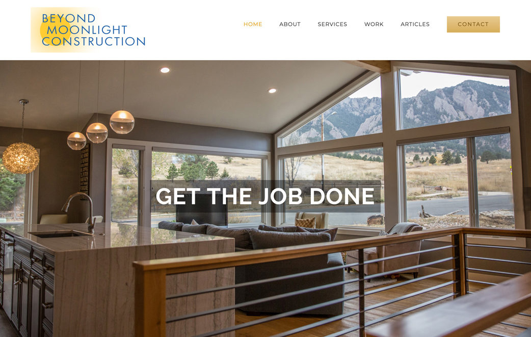 Web Design, Logo Design, content organization for a General Contractor