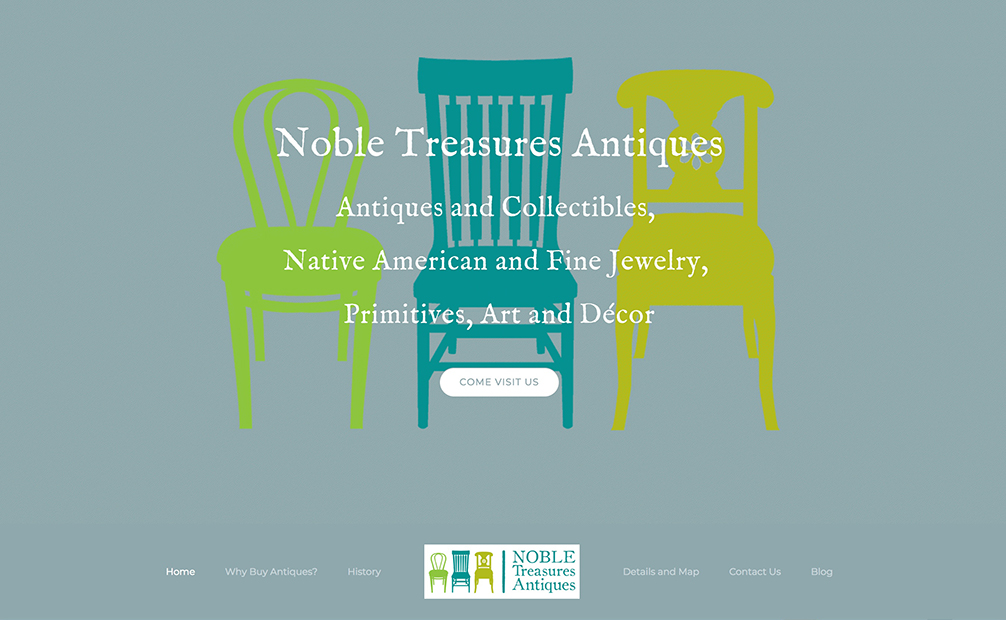 Web Design – Noble Treasures Antiques and Collectibles