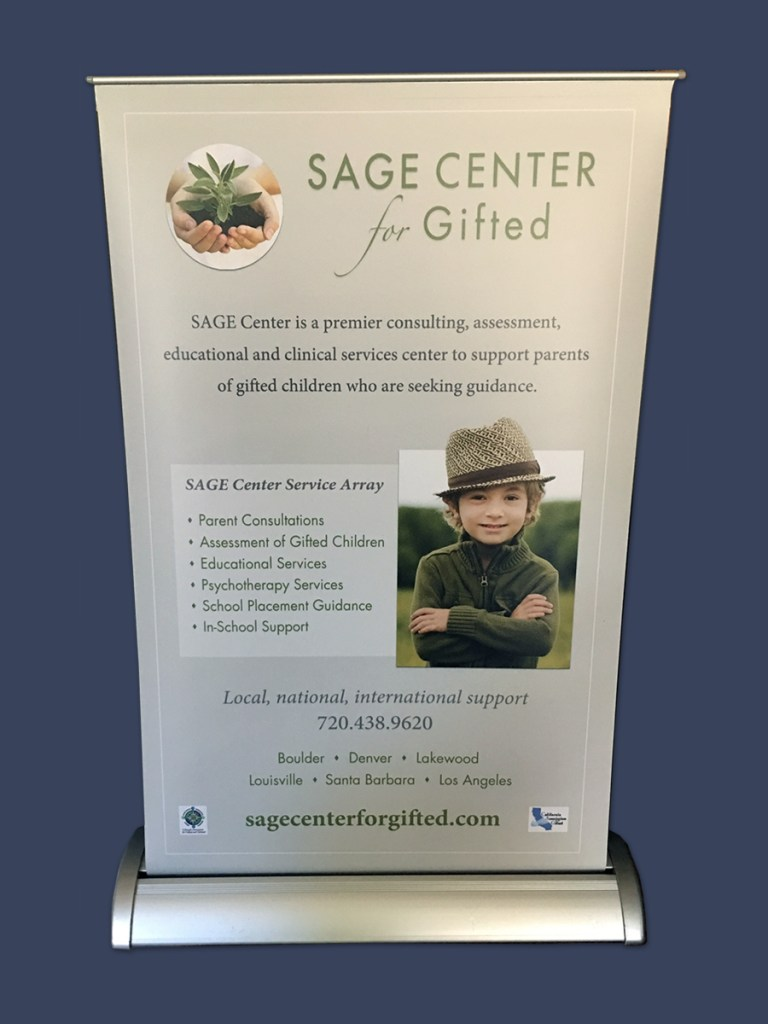 Graphic Design – SAGE Center, gifted conference signage