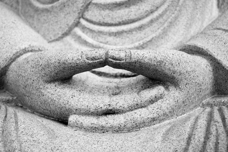 Web Design and Conceptual Development. Meditation Hands.