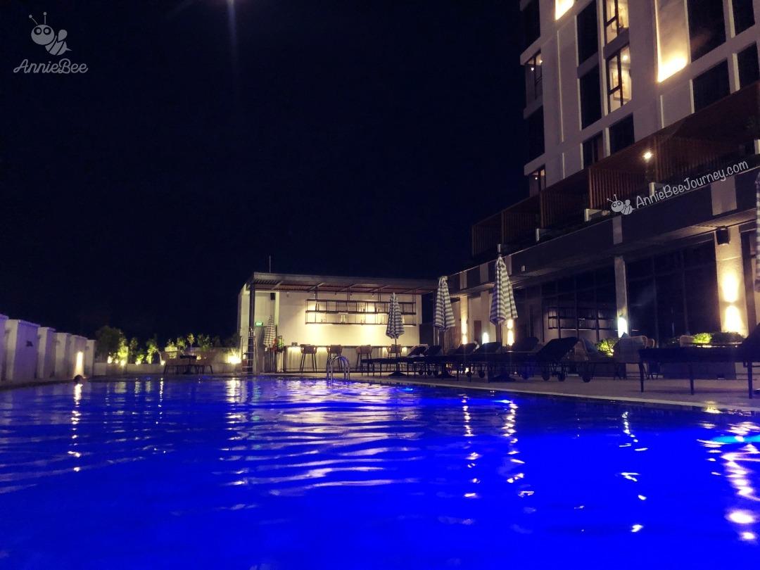 Swimming pool at Anya hotel in Quy Nhon, Vietnam