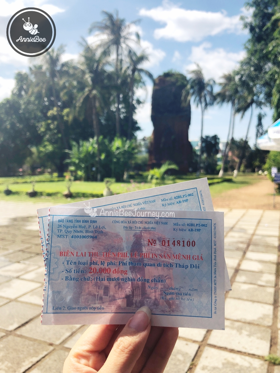 Ticket at Twin Towers Thap Doi in Quy Nhon, Vietnam