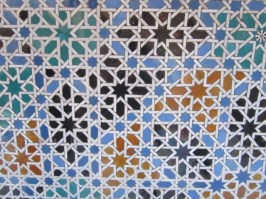 Mosaic tiles at Alcazar Seville