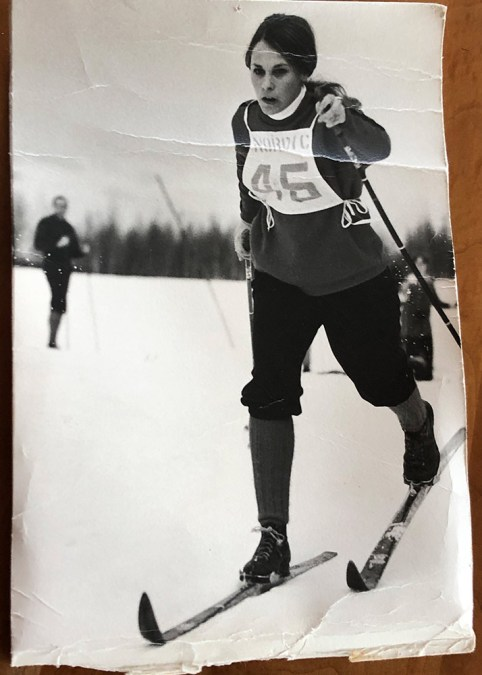 Annie Boochever cross country skiing race 1967