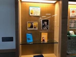 Case featuring Annie Boochever's books and Elizabeth Peratrovich