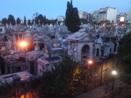 Wealthy people's graveyard at night