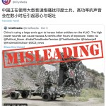 Misleading: This video does not show China using a large sonic gun to harass Indian soldiers