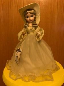 1980s yellow Bradley Dolls doll