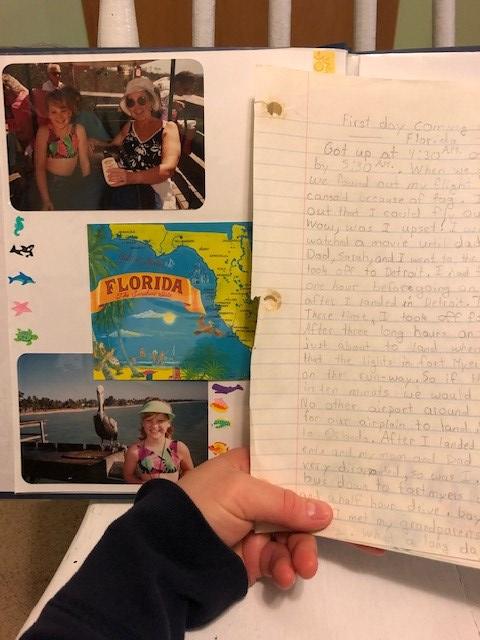 1993 Florida Trip Scrapbook and Journal