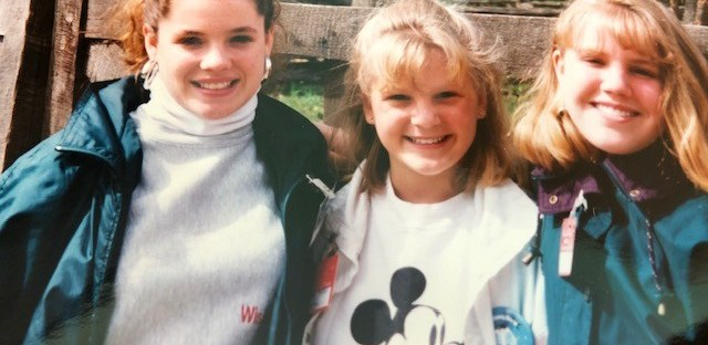 My sisters and I at Williamsburg, Virginia, 1993