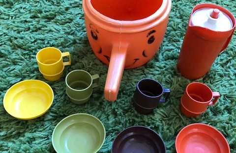 1980s Toy Tupperware Set and Soup Kettle