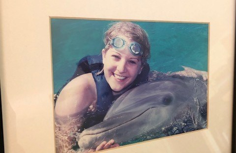 Swimming with dolphins, Mayan Riviera, Mexico
