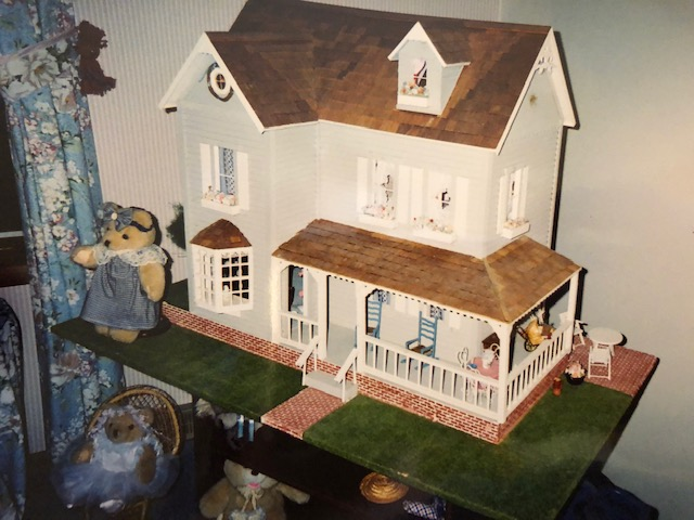 Vintage Dollhouse with front porch
