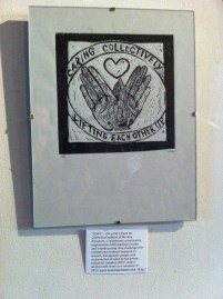 """""""CCWP"""" – this print I made for California Coalition of Women Prisoners, a """"grassroots social justice organization, with members inside and outside prison, that challenges the institutional violence imposed on women, transgender people, and communities of color by the prison industrial complex (PIC)"""", when I worked with them as a volunteer in 2013. www.womenprisoners.org."""