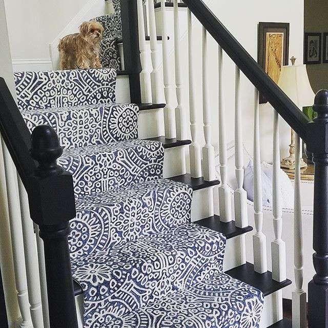 How To Choose A Stair Runner Rug Annie Selke | Best Carpet For High Traffic Stairs | Floor | Stairway Carpet | Stair Treads | Staircase | Hallway