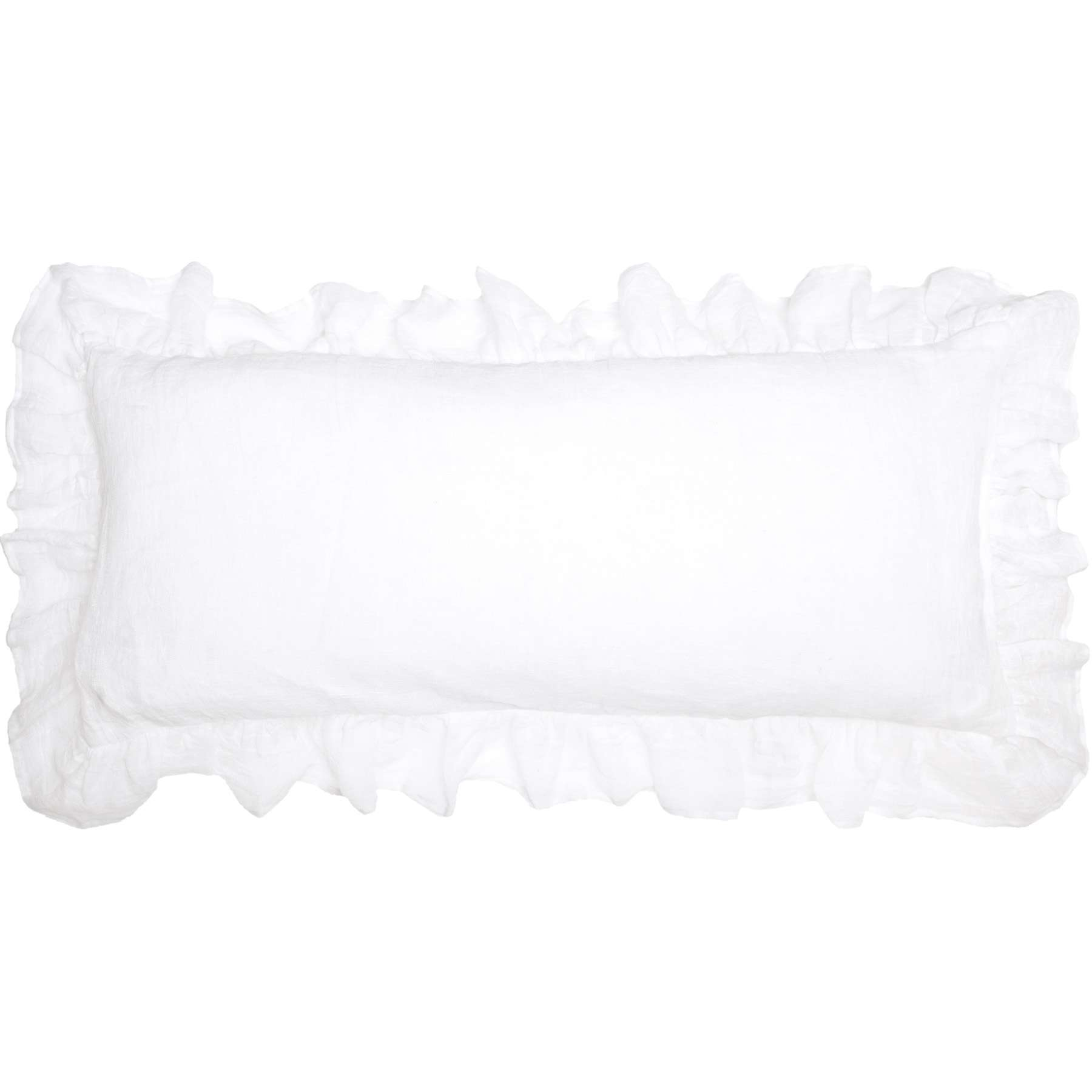 savannah linen gauze white decorative pillow