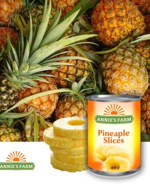 Pineapple slices in light syrup