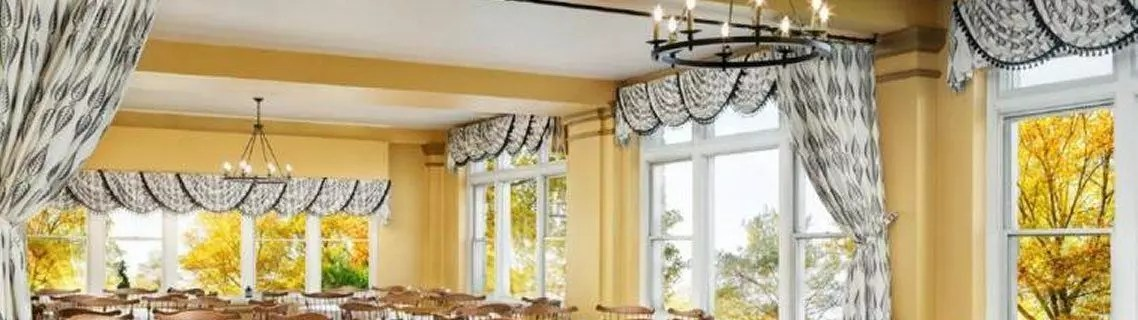 Commercial Drapery Curtain Installation Restaurant