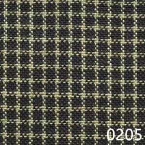 Navy Tea Dyed Reverse Check Plaid Homespun Fabric