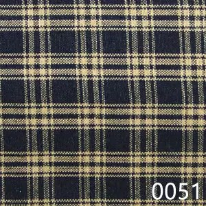 Black Tea Dyed Catawba Check Plaid Homespun Fabric