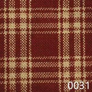 Red Tea Dyed Catawba Check Plaid Homespun Fabric