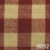 Red Tea Dyed Small Check Plaid Homespun Fabric