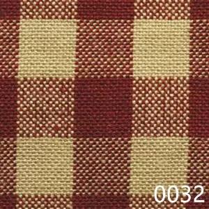 Red Tea Dyed Small Check Plaid Homespun Fabric