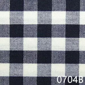 Black-Cream-Small-Check-Plaid-Homespun-Fabric-0704B